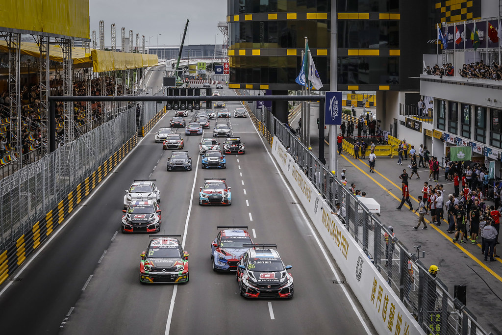 Start race 3 during the 2018 FIA WTCR World Touring Car cup of Macau, Circuito da Guia, from november  15 to 18 - Photo Francois Flamand / DPPI