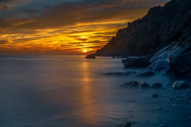 Sunset at Maro beach
