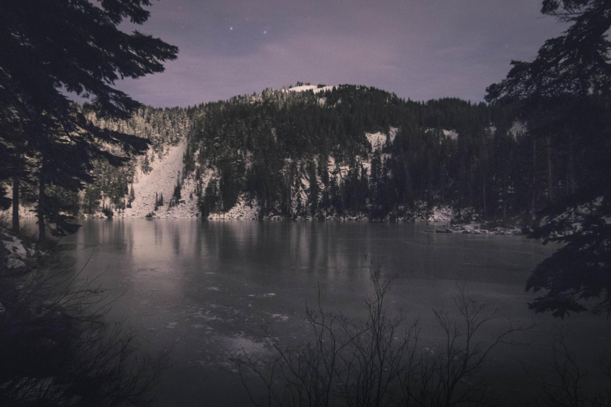 Mason Lake after dark