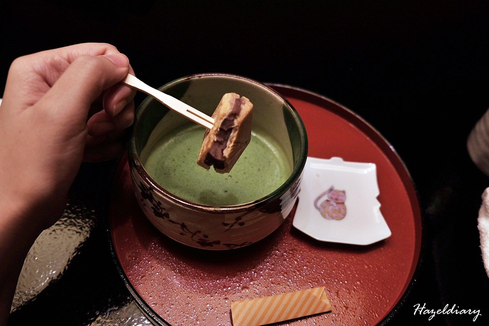 kaiseki soujuan keio plaza hotel tokyo-green tea