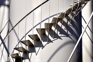 Spiral staircase, Whitlam Tank municipal water tower, Etobicoke, Toronto