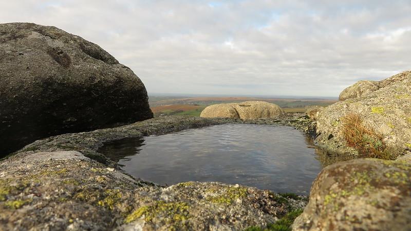 Roos Tor summit rock basin
