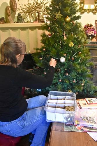 Jill Weaver unpacked the Christmas tree Nov 2018