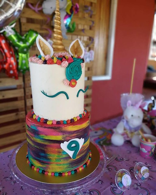 Rainbow Unicorn Cake by Vienna's Cakes