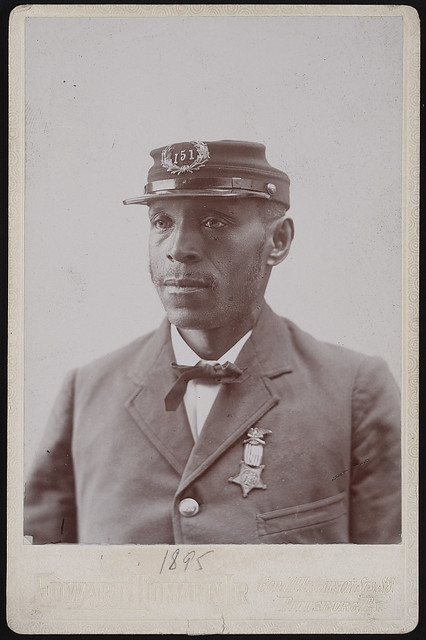 [Unidentified African American Civil War veteran of G.A.R. Col. John W. Patterson Post no. 151 of Pittsburgh, Pennsylvania] (LOC)