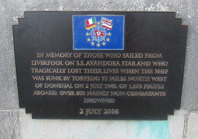 Arandora Star Memorial, Liverpool