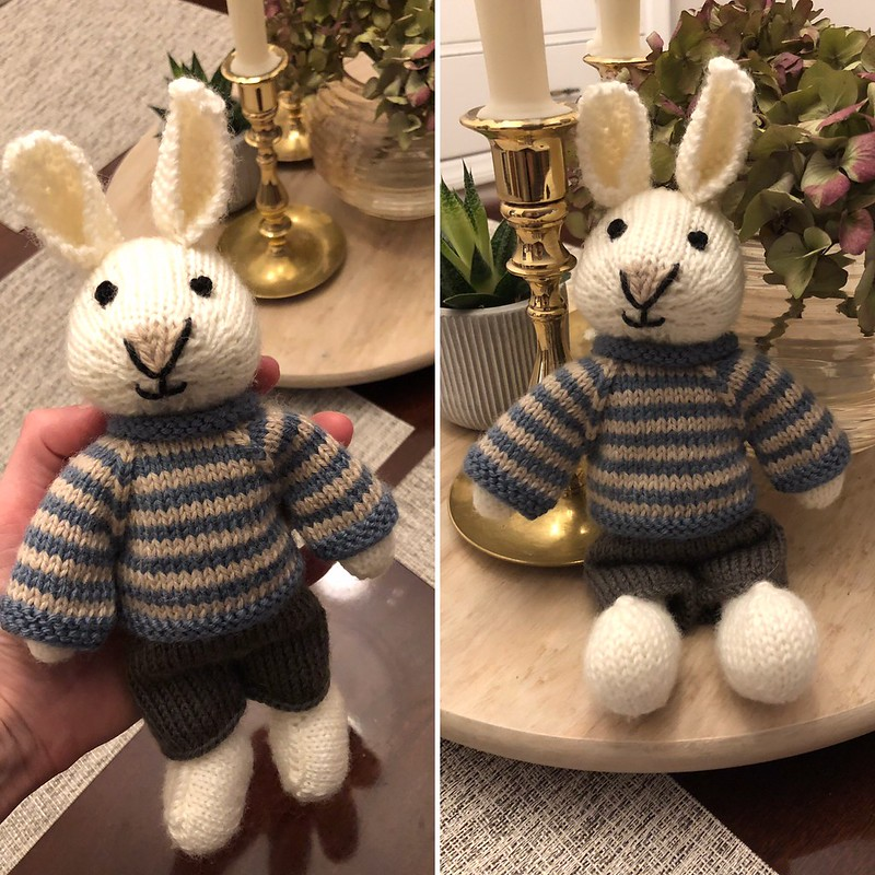 Jessica's finished bunny! She has now started Julie's elephant!