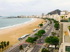Copacabana promenade and Avenida Atlântica from the Hotel