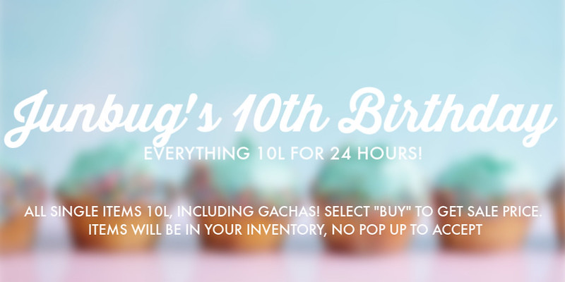 Birthday Sale at Junbug