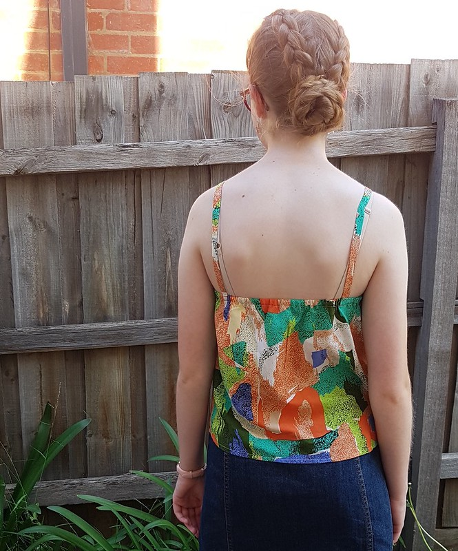 True Bias mini Ogden cami in rayon from Rathdowne Fabrics