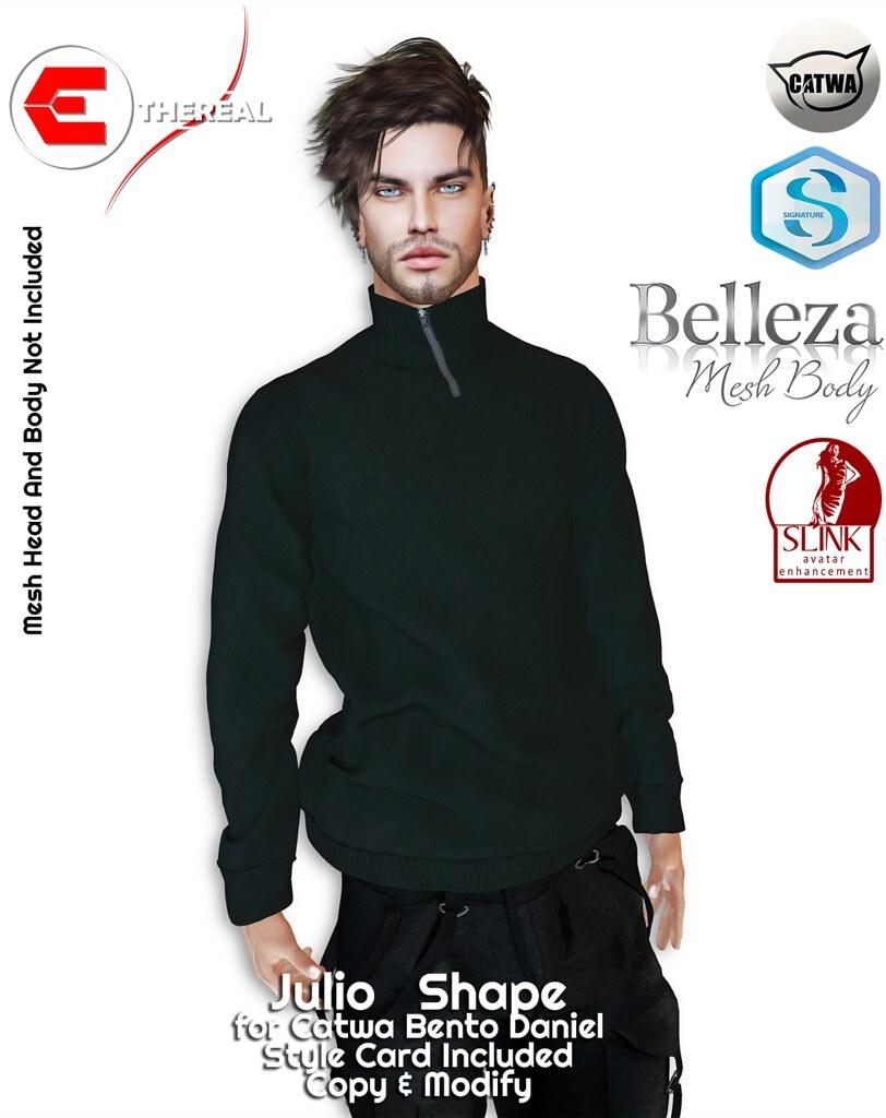 Ethereal Julio Shape Bento Catwa Daniel - TeleportHub.com Live!