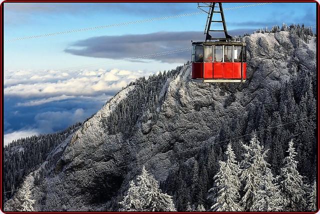 Wonderful winter in Postavaru/Carpathians mountains, Romania