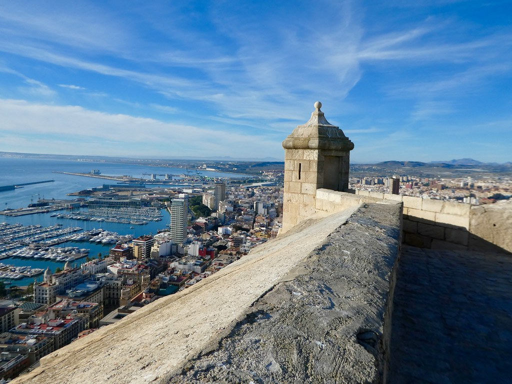 Views from the castle ramparts, Alicante