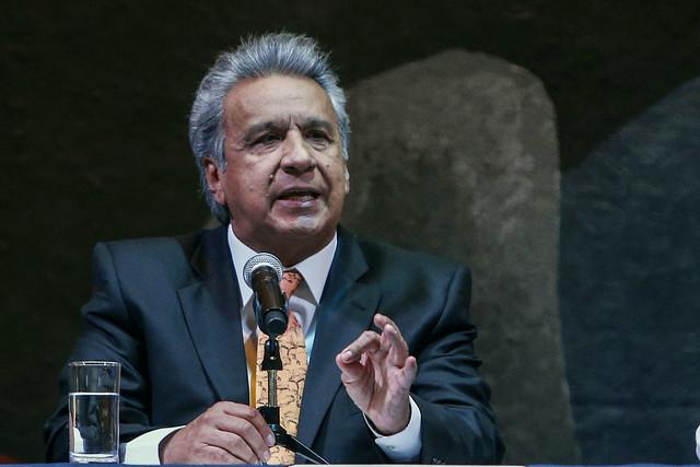 Lenín Moreno assumiu o cargo em maio de 2017, sucedendo Rafael Correa - Créditos: Foto: Cristina Vega/AFP