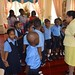 Mrs. Sita Nagamootoo interacts with the children.
