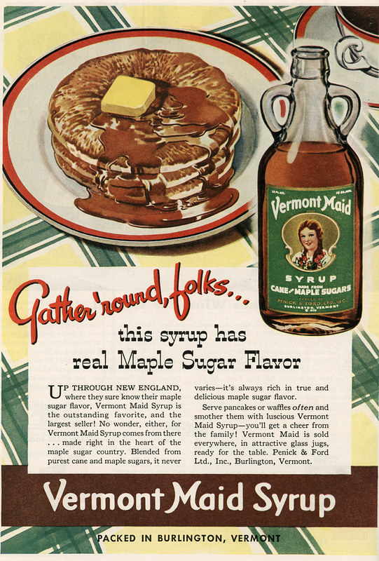 Vermont Maid Syrup 1941
