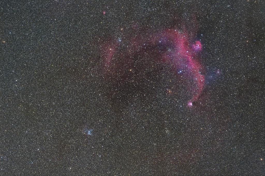 seagull nebula and Thor's Helmet