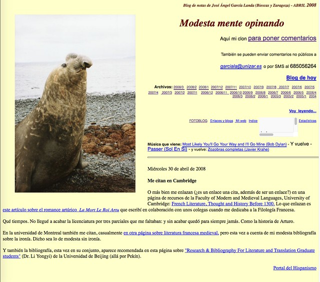 Modesta mente opinando: Blog de notas de abril de 2008