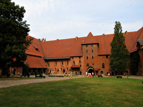 Inner courtyard of Malbork Castle in Poland