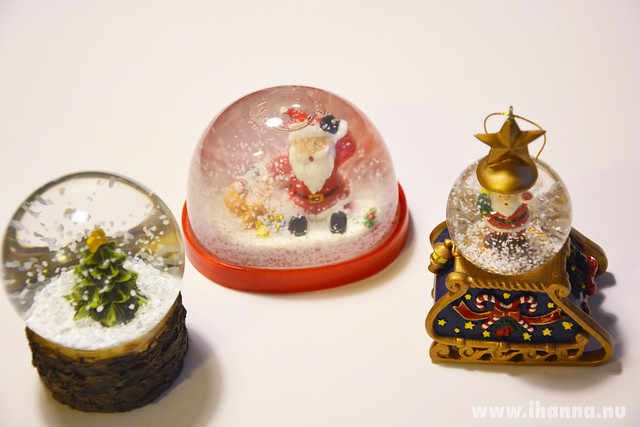Three small Christmas ornaments (photo copyright Hanna Andersson, Studio iHanna)