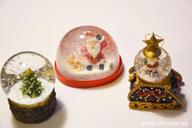Three small Christmas ornaments (photo copyright Hanna Andersson, Studio iHanna)