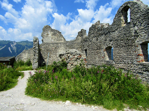 remaining wall of Ehrenberg Castle