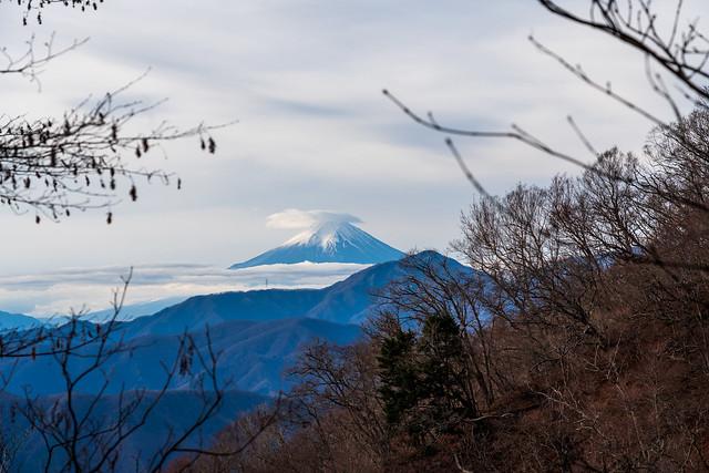 七ツ石小屋手前で仰ぐ富士