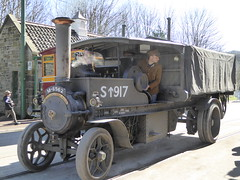 Terry Pinnegar Photography posted a photo:	Cruising past the tram/bus stop at Beamish Museum in it's War Department livery is Foden steam wagon 7768 of 1917, registered M-8562. At the wheel is a young WW1 soldier who has clearly been instructed to keep his eyes on the road (not!) and head for the battlefront. Something or someone beside him is obviously a lot more interesting than whatever might be in front of him!The engine was at the museum as part of their Great War Steam Fair of 2018.Copyright © 2019 Terry Pinnegar Photography. All Rights Reserved.  THIS IMAGE IS NOT TO BE USED WITHOUT MY EXPRESS PERMISSION!