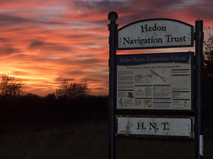 Sunset sky Haven sign