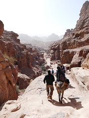 Climbing Down from the Monastery at Petra (30)
