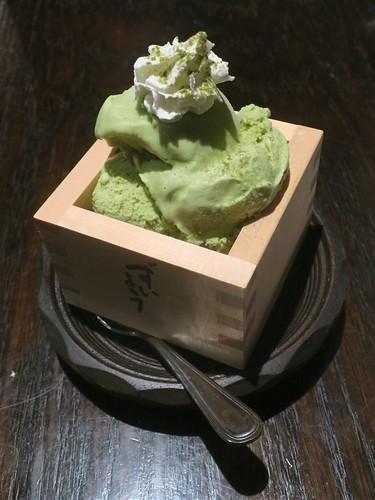 green macha tea ice cream