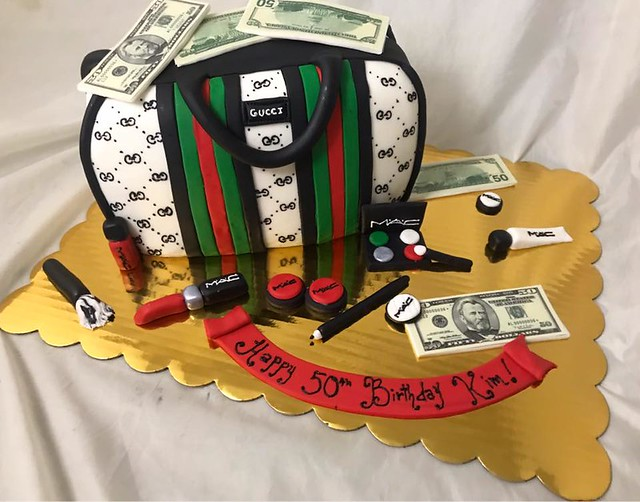 Gucci Bag Cake by Creative Cakes by KeeKee