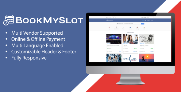 BookMySlot v1.1.0 – Multi Vendor Appointment Booking PHP Software
