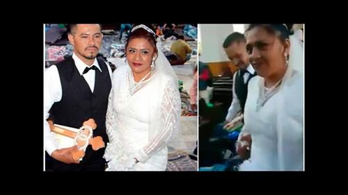 Hondureño se casa con poblana en medio de la caravana migrante (VIDEO)