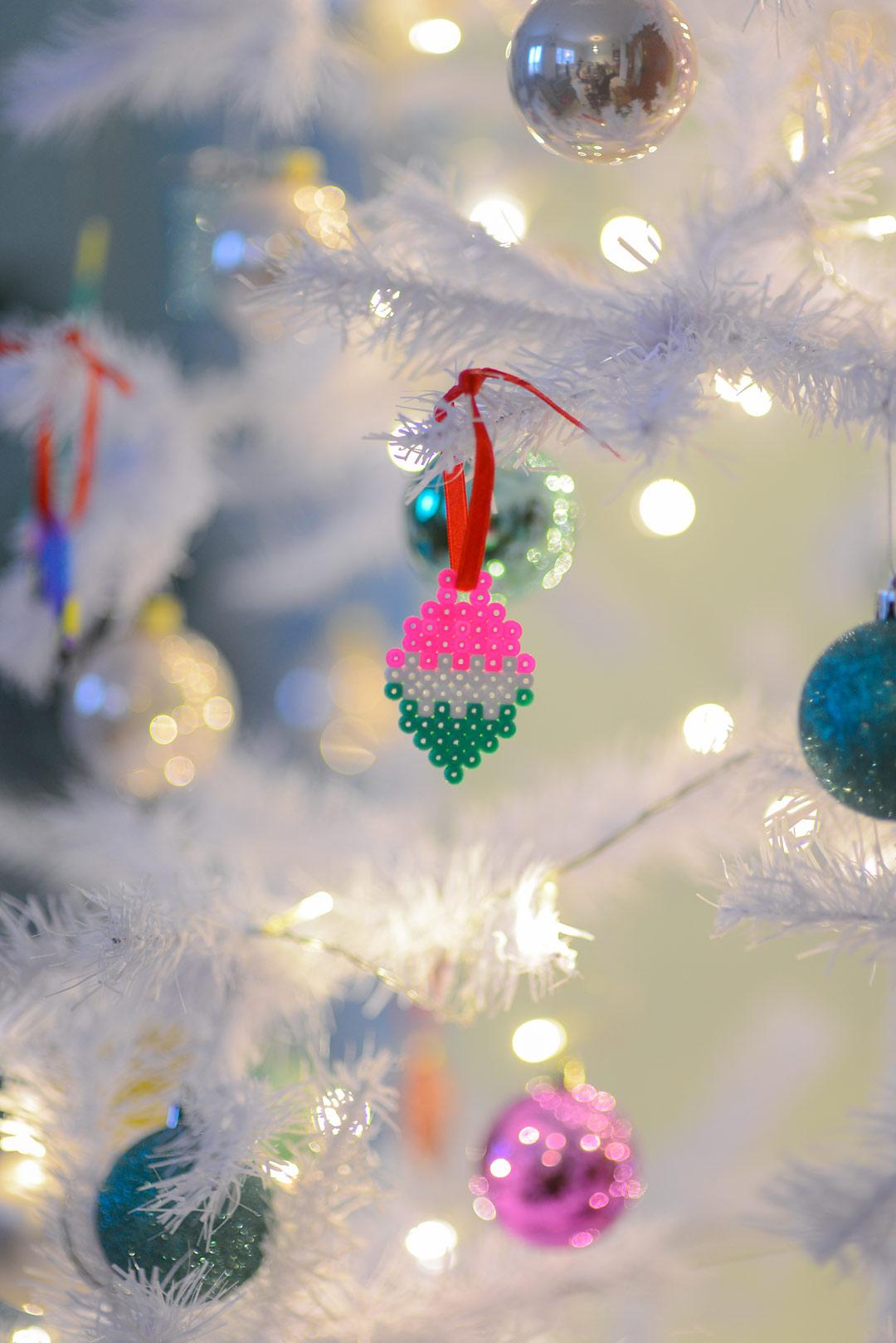 DIY Hama bead Christmas ornaments