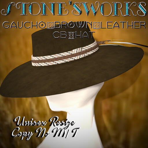 Gaucho CB Hat Brown Stone's Works - TeleportHub.com Live!