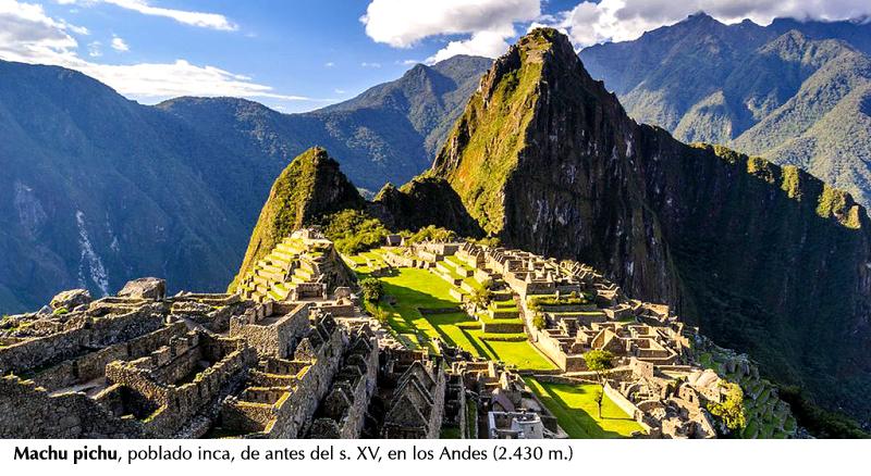 Machu pichu, Andes del Perú
