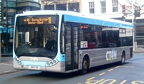 J66 CTN 'Community Transport for Nottingham' (CT4N) No. 1002. Optare Tempo X1200 /1 on Dennis Basford's railsroadsrunways.blogspot.co.uk'