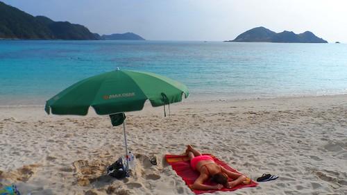 Jessica am Tokashiku Beach