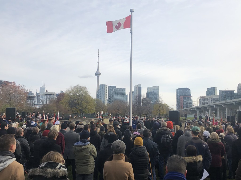 Remembrance Day ceremony at Fort York
