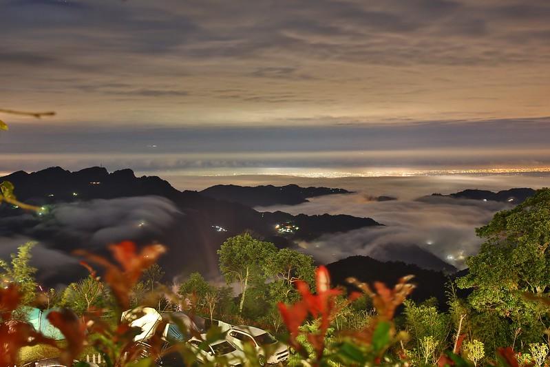 夜景與雲海