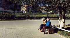 Old Mongolian couple