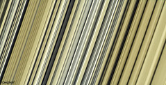 Highest-resolution color images of any part of Saturn's rings, to date, showing a portion of the inner-central part of the planet's B Ring. Sept 7th, 2017. Original from NASA. Digitally enhanced by rawpixel.