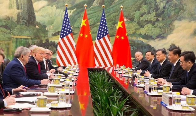 dc27a8d98 Trump e Jinping em Pequim  guerra comercial e tecnologia - Créditos   Shealah Craighead