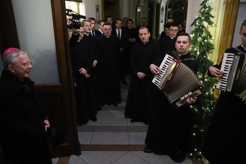 Wigilia w Wyższym Seminarium Duchownym AK w Krakowie   Abp Marek Jędraszewski, 21.12.2018