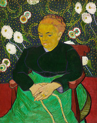 The Berceuse, Woman Rocking a Cradle (1889) by Vincent Van Gogh. Original from the MET Museum. Digitally enhanced by rawpixel.