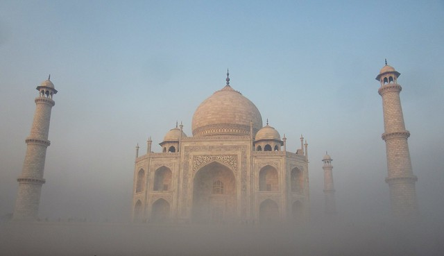 Fog in Taj Mahal, Canon POWERSHOT SX600 HS