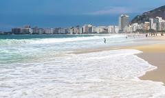 Copacabana beach in the morning