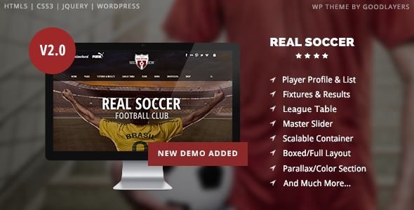 Real Soccer v2.31 - Sport Clubs Responsive WP Theme