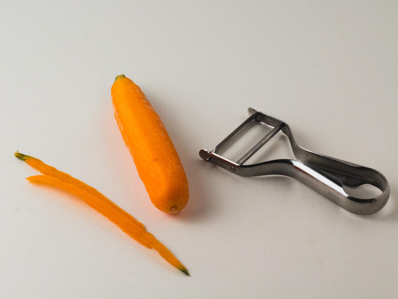 Schil de wortels